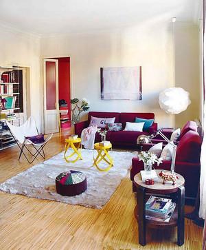 现代简约色彩混搭两居室装修效果图赏析