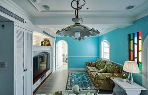 精致地中海风格三室两厅一卫装修效果图