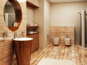 20平米中式风格卫生间洗脸盆装修效果图