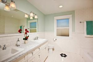 简欧风格大户型室内卫生间洗脸盆装修效果图