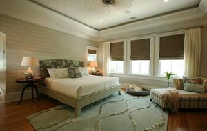 30平米美式田园风格卧室装修效果图