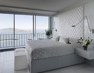 后现代极简主义风格卧室背景墙装修效果图