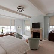 现代简约美式风格卧室吊顶设计装修效果图