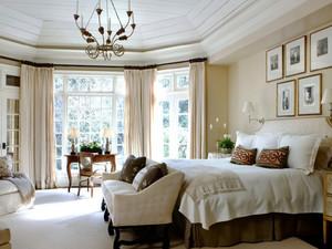 温馨欧式风格别墅室内卧室装修效果图