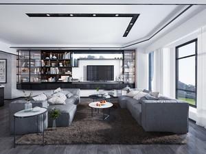 80平米后现代风格单身公寓装修效果图