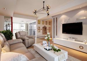 现代简约风格精致三房两厅装修效果图