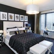 后现代风格大户型室内卧室照片墙装修效果图