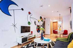 现代简约风格时尚创意两室一厅一厨一卫装修效果图