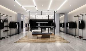 56平米后现代简约风格男士服装店装修效果图