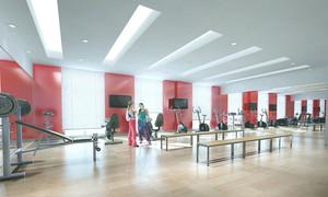 120平米现代简约风格健身房设计效果图赏析