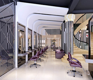 96平米现代精致现代风格美发店设计装修效果图