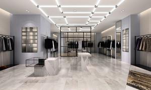 76平米后现代风格男士服装店装修效果图