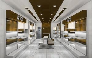 56平米现代风格鞋店展示柜装修效果图