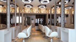 50平米现代风格美发店设计装修实景图案例