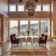 后现代风格别墅室内餐厅设计装修效果图