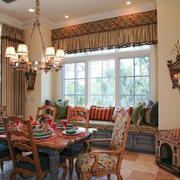 东南亚风格餐厅飘窗设计装修效果图赏析