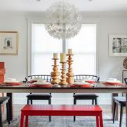 北欧风格大户型室内创意餐厅吊灯设计效果图