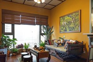 50平米小户型东南亚混搭风格室内装修效果图