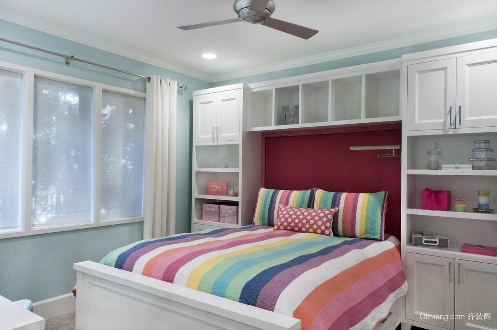 简欧风格儿童房卧室装修效果图赏析