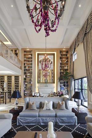 169平米欧式田园风格跃层室内装修效果图