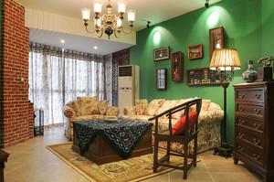 美式混搭风格两室两厅室内装修效果图鉴赏