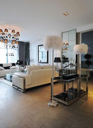 现代简约轻奢风大户型室内装修效果图