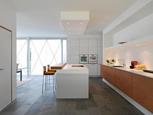 北欧风格三居室室内开放式厨房吧台装修效果图