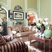 美式田园风格别墅室内客厅装修效果图赏析