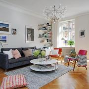 北欧风格两居室室内客厅装修效果图