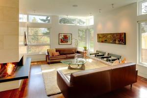 后现代风格别墅室内客厅沙发装修效果图赏析