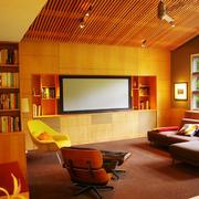 美式乡村风格客厅电视组合柜装修效果图案例