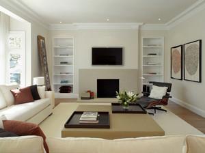简欧风格三居室室内客厅设计装修效果图