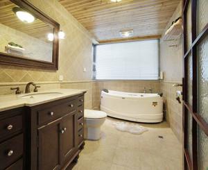 139平米美式乡村风格复式楼室内装修效果图