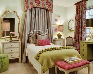 法式田园风格别墅室内卧室装修效果图