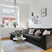 北欧风格小户型客厅沙发摆放效果图
