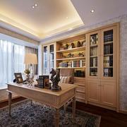 美式风格大户型室内书房飘窗装修效果图