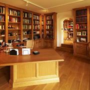 美式乡村风格别墅室内书房设计装修效果图