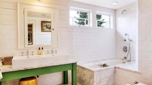 140平米现代美式风格三室两厅室内装修效果图