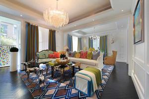 133平米美式风格两室两厅室内装修效果图