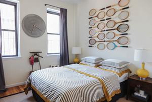 后现代简约风格卧室背景墙装修效果图