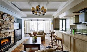200平米现代美式风格别墅室内装修效果图赏析