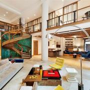 150平米后现代风格跃层楼梯设计装修效果图