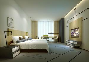30平米宜家简约风格宾馆客房装修效果图赏析