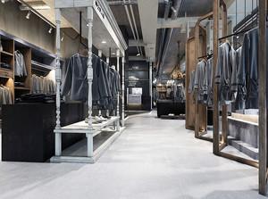 46平米欧式风格男士服装店装修效果图案例