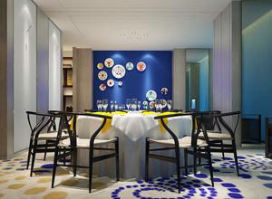 36平米后现代混搭风格酒店餐桌装修效果图