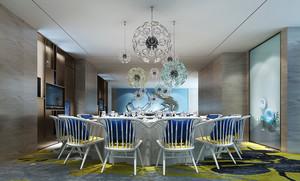 46平米欧式风格精致酒店餐桌装修效果图