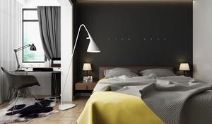 60平米现代简约风格中性冷色小户型装修效果图