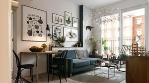 60平米北欧风格一居室小户型装修效果图