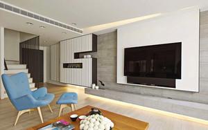 自然简约风格86平米复式楼室内装修效果图
