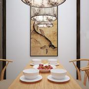 新中式风格大户型餐厅背景墙装修效果图